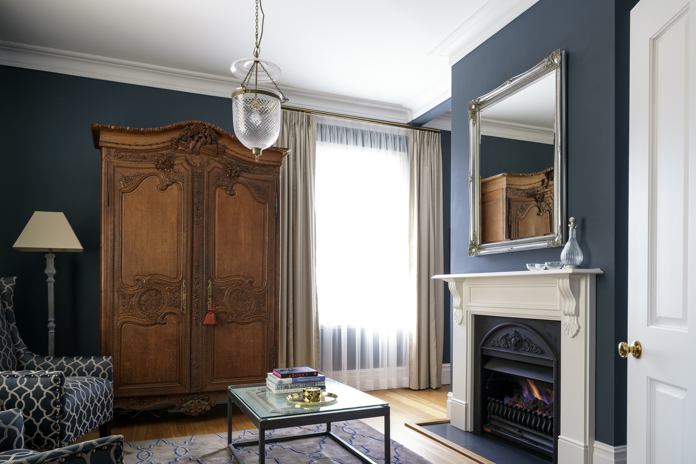 100-Year-Old-Heritage-Home-Restoration-Living-Fireplace-Michael-Bell-Architects-Sydney