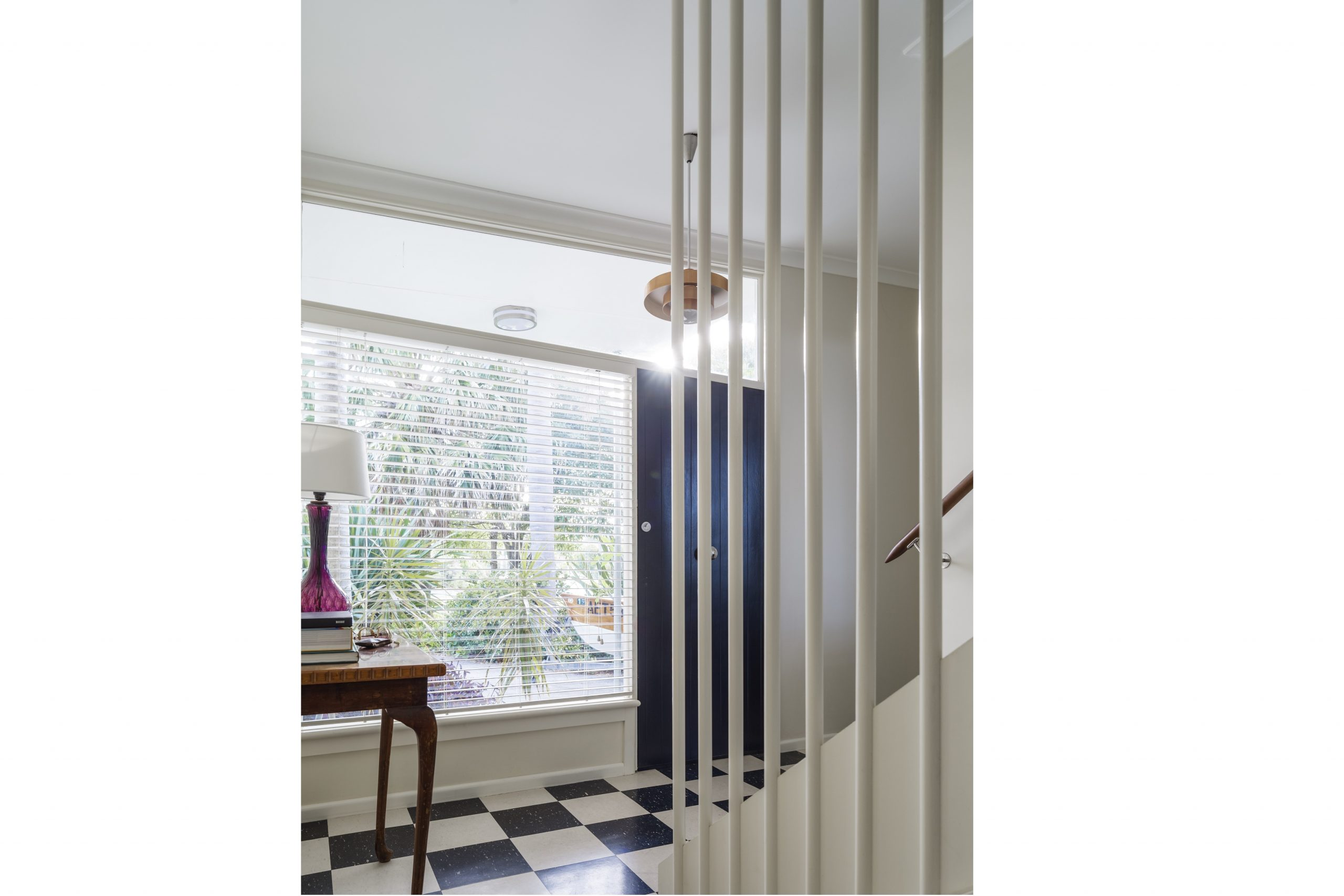 1970s-Checkerboard-Tiles-Entry-Interior-Decoration-Kiama-Michael-Bell-Architects-Sydney-2