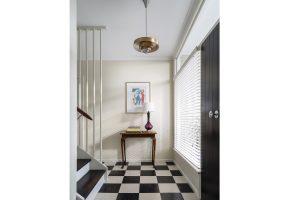 Interior Design Retro 1960s Entry Checkerboard Tiles