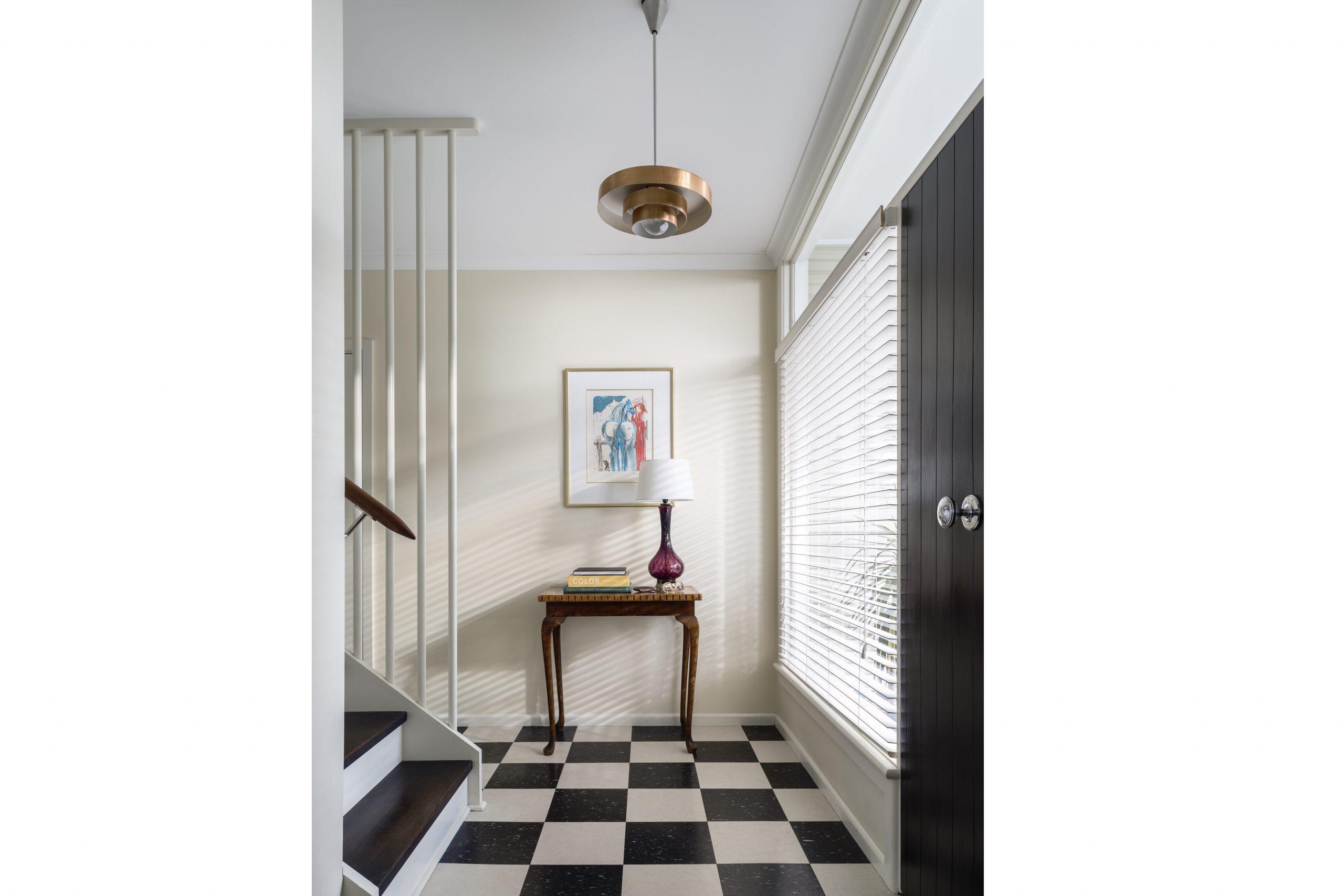 1970s-Checkerboard-Tiles-Entry-Interior-Decoration-Kiama-Michael-Bell-Architects-Sydney