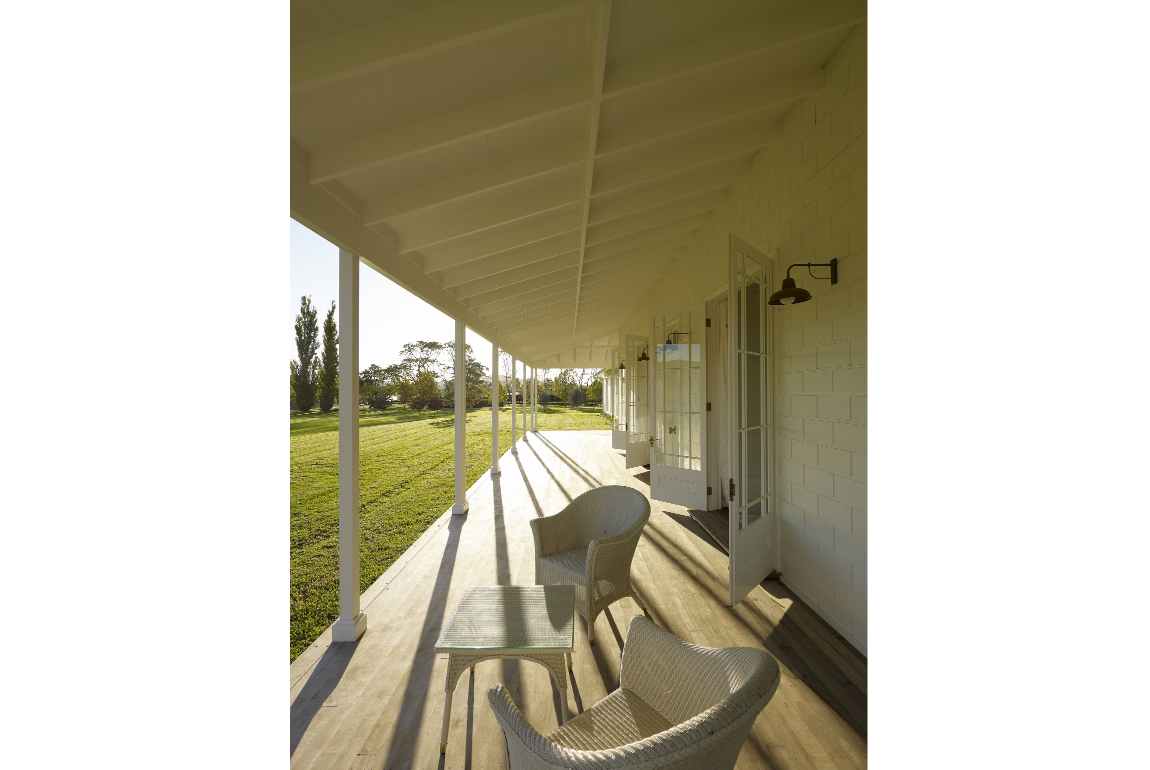 Australian-Country-Farmhouse-Horse-Stud-Verandah-Sunset-Michael-Bell-Architects