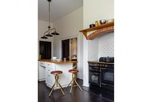 Country Kitchen Interior Design Fireplace