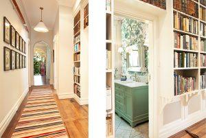 Interior Design Bookshelf hallway