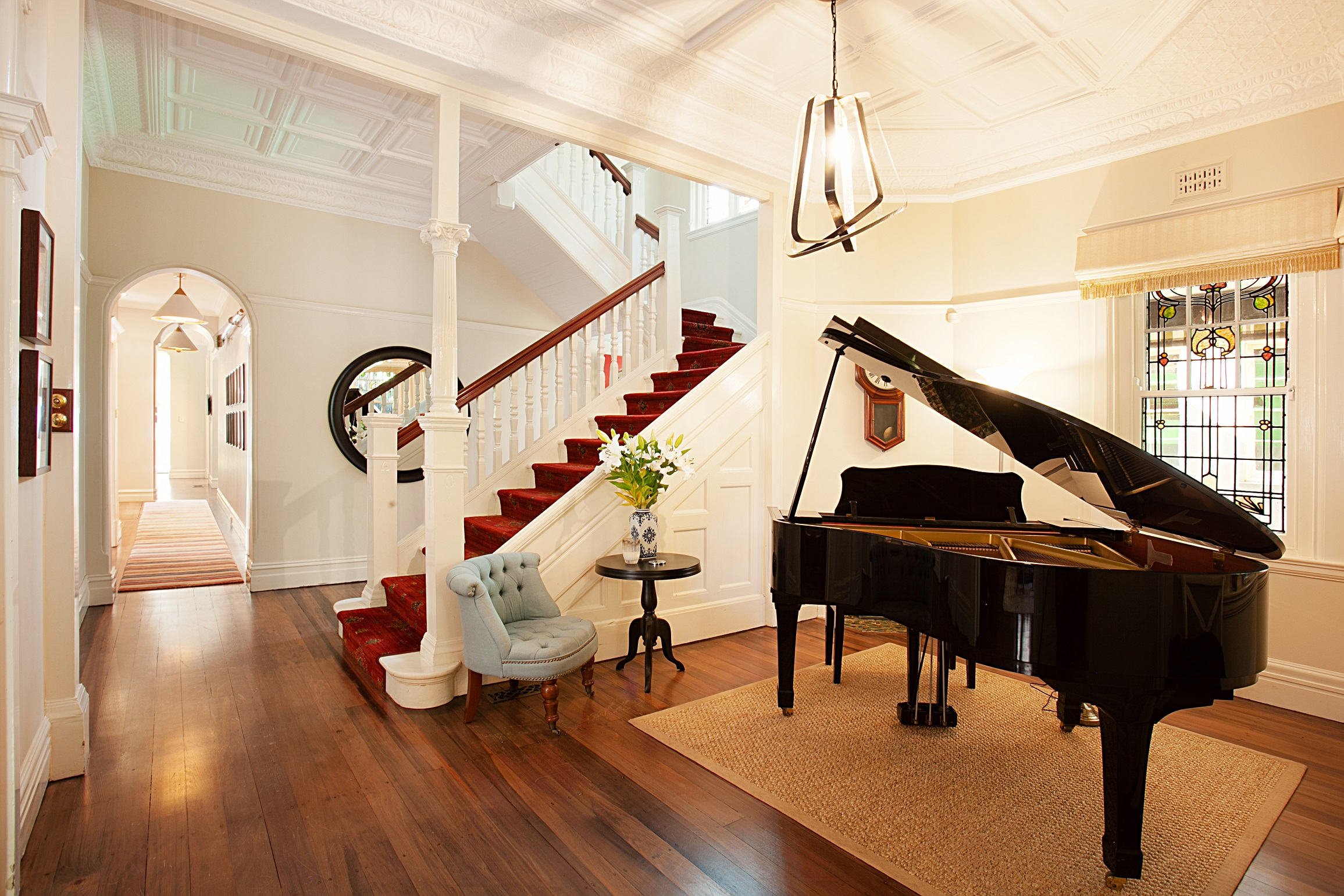 Heritage-Home-renovation-Stairs-grand-piano-Michael-Bell-Architects-Sydney