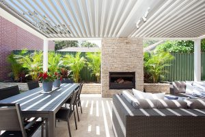 Heritage Renovation Outdoor Living Fireplace Sydney