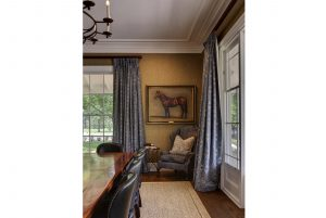 Interior Design Horse Wall Painting Armchair