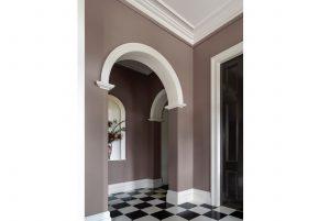 Interior Design Arch Checkerboard Tiles