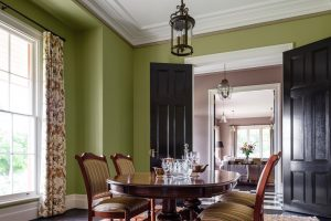 Interior Design Green Walls Dining